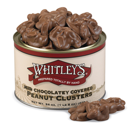 Case 12 - 24 oz. Tins Milk Chocolatey Covered Peanut Clusters