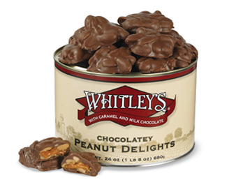 12-24 oz. Tins Chocolatey Peanut Delights (one case)