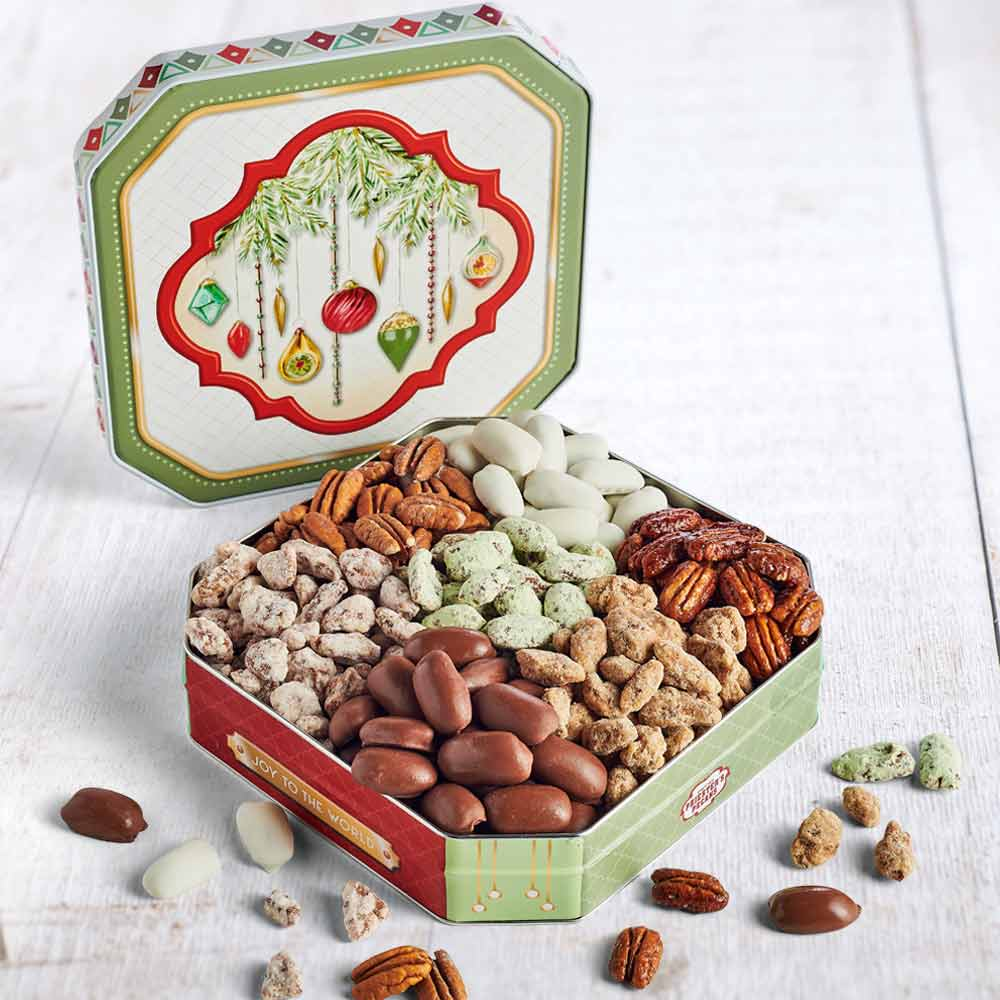 Seven Pecan Favorites, Christmas Bells Tin