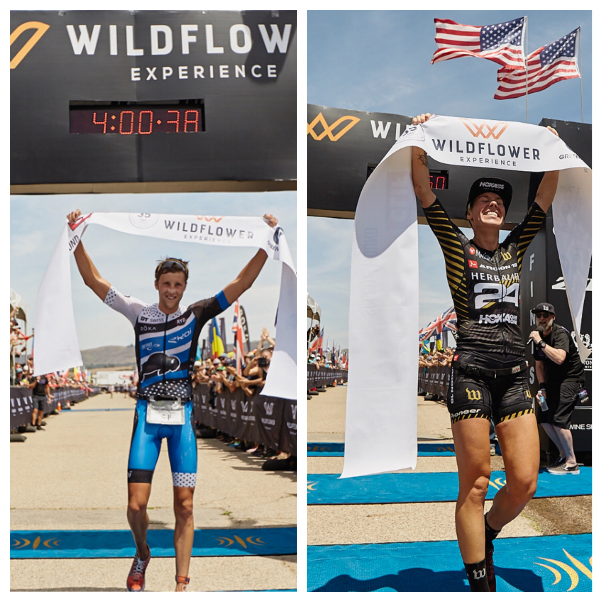 Rudy von Berg and Heather Jackson Win 2018 Wildflower Triathlon Experience Long Course Race