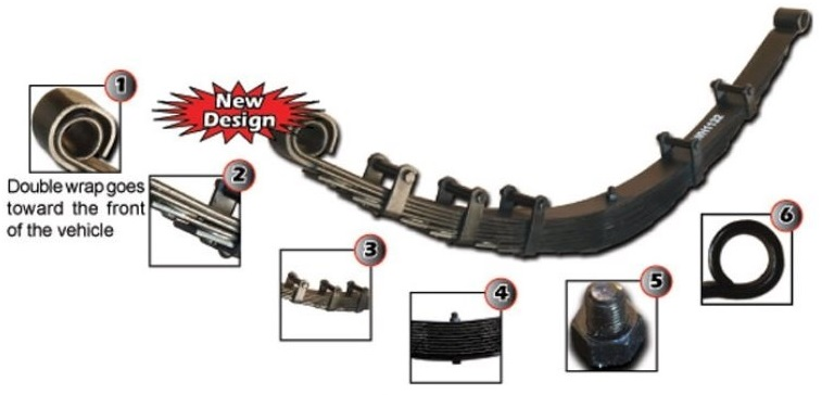Leaf Springs Wild Horses Early Ford Bronco Parts