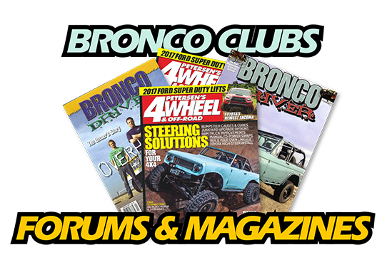 Bronco Forums, Clubs, & Magazines