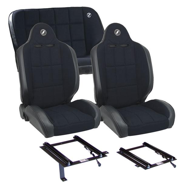 Corbeau Baja RS Seat Package-Fronts/36in Rear & All Brackets