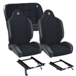 Corbeau Baja RS Seat Package-Fronts/36in Rear & All Brackets
