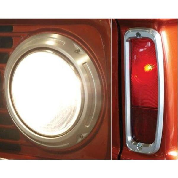 Billet Headlight Rings & Taillight Bezels Set
