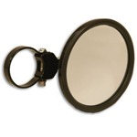 """Black 5"""" Round Convex Side Mirror Attachment & Clamp"""