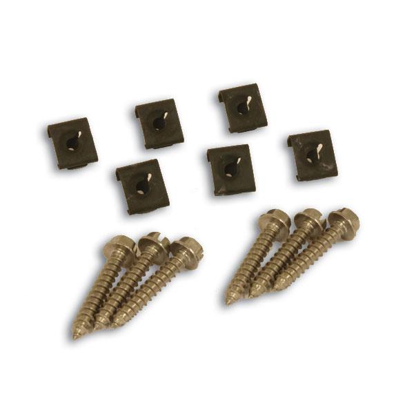 Arm Rest Screw & Clip Set 68-77 (Does both doors)