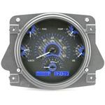 Dakota Digital Dash VHX Carbon Fiber Blue 66-77 Bronco / 61-66 Pickup