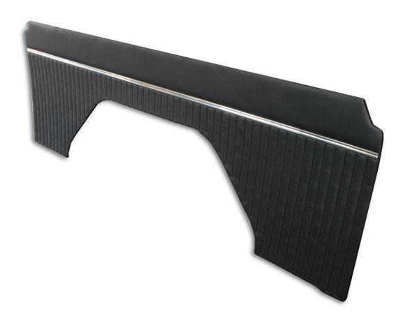 66-76 Black Vinyl Interior Quarter Panels - No Top