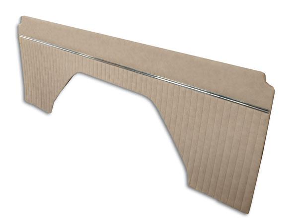 66-76 Parchment Vinyl Interior Quarter Panels - No Top