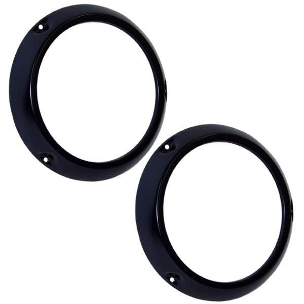 Black Headlight Ring PAIR