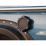 Black Billet Grabber Fuel Cap Cover (each) For WH non-locking  2.80 OD caps