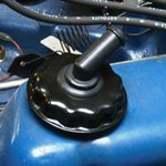 Oil Cap with PCV Elbow Black