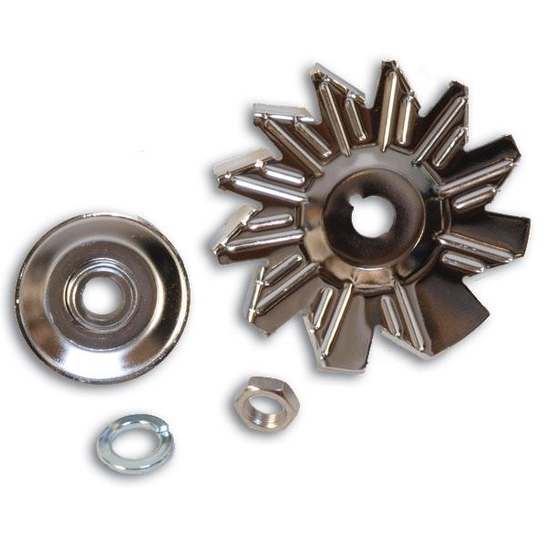Chrome Alternator Fan Kit