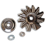 Chrome Alternator Fan Kit