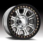 Raceline Monster Beadlock Aluminum Wheel w/ Black Outer Ring