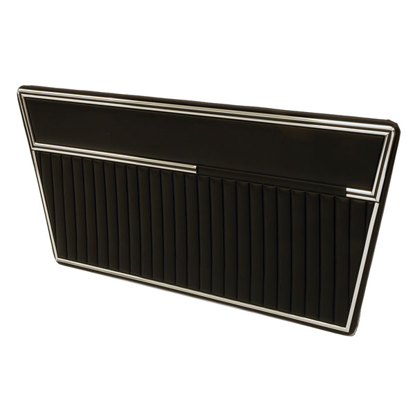 Deluxe Door Panels 68-77 Black On Black