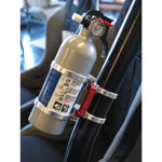 Deluxe Quick Release Fire Extinguisher Mount Kit - Clear