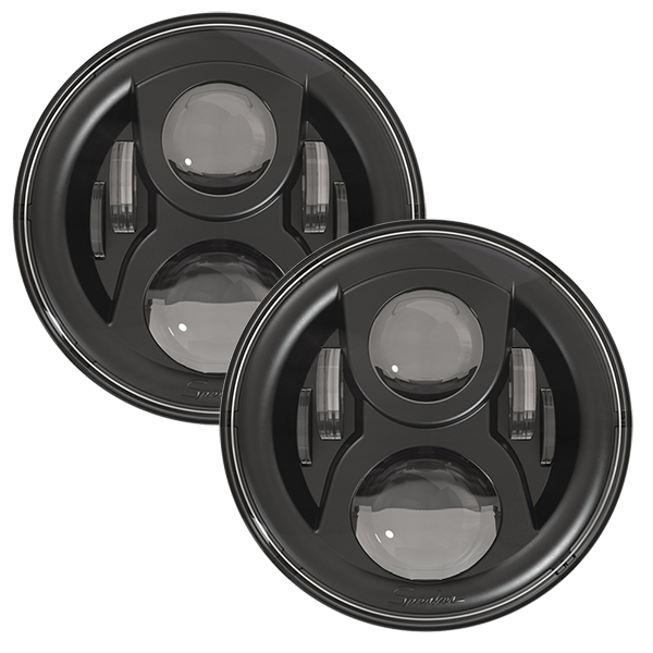 SPEAKER 8700 Evolution 2 LED Headlights Black Finish 7