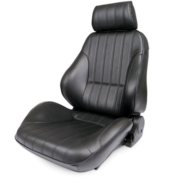 ProCar Rally Seat Black Vinyl w/ Sliders