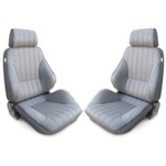 Procar Rally Seats PAIR Grey Vinyl with Sliders