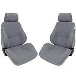 Procar Rally Seats PAIR Grey Velour with Sliders