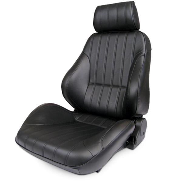 ProCar Rally Seat Black Leather w/ Sliders