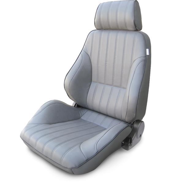 ProCar Rally Seat Grey Vinyl w/ Sliders