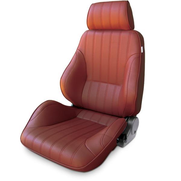 ProCar Rally Seat Maroon Vinyl w/ Sliders