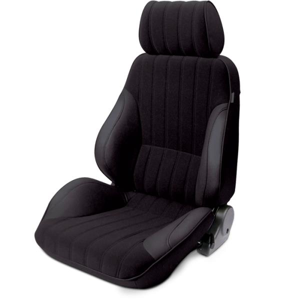 ProCar Rally Seat Black Vinyl / Black Velour w/ Sliders