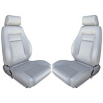 Procar Elite Seats PAIR Grey Vinyl with Sliders