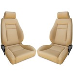 Procar Elite Seats PAIR Beige Vinyl with Sliders