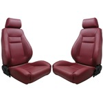 Procar Elite Seats PAIR Maroon Vinyl with Sliders