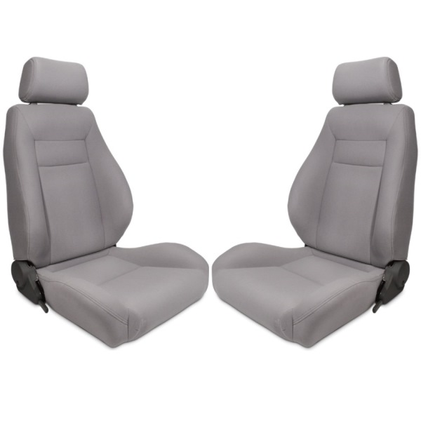 Procar Elite Seats PAIR Grey Velour with Sliders
