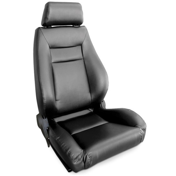 ProCar Elite Seat Black Vinyl w/ Sliders