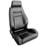 ProCar Elite Seat Black Vinyl w/ Sliders