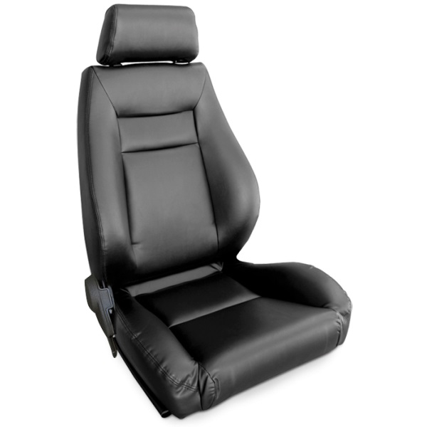 ProCar Elite Seat Black Leather w/ Sliders