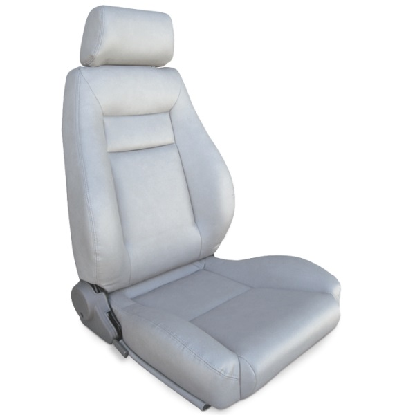 ProCar Elite Seat Grey Vinyl w/ Sliders