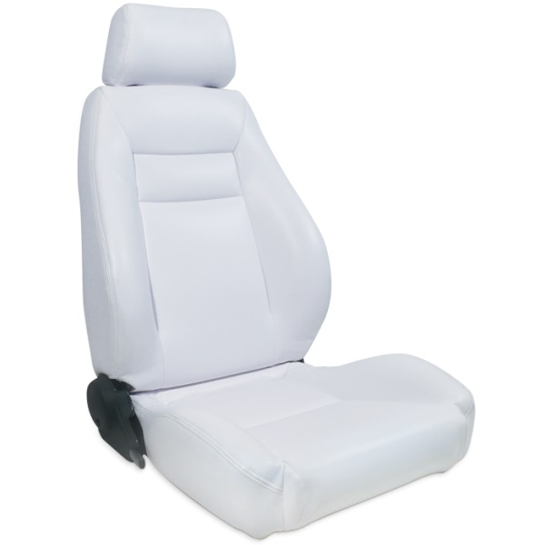 ProCar Elite Seat White Vinyl w/ Sliders