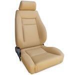 ProCar Elite Seat Beige Vinyl w/ Sliders