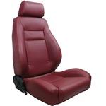 ProCar Elite Seat Maroon Vinyl w/ Sliders