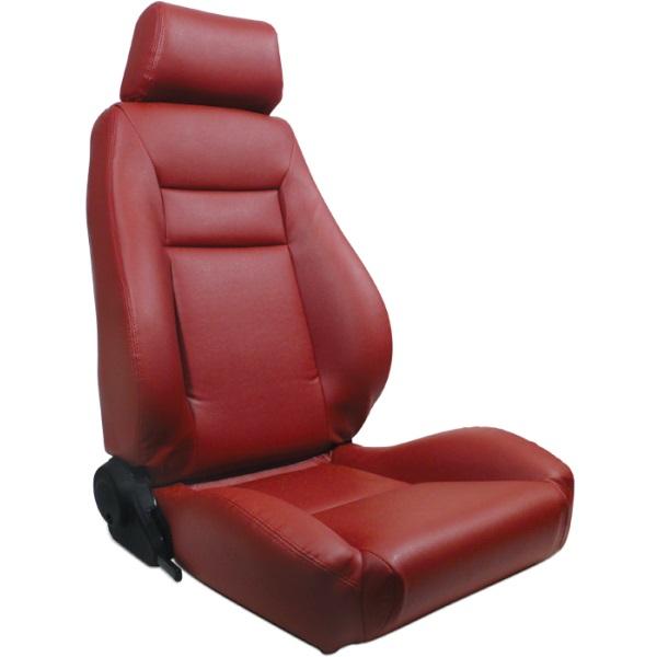 ProCar Elite Seat Red Vinyl w/ Sliders