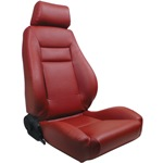 ProCar Elite Seat Red Vinyl w/ Sliders