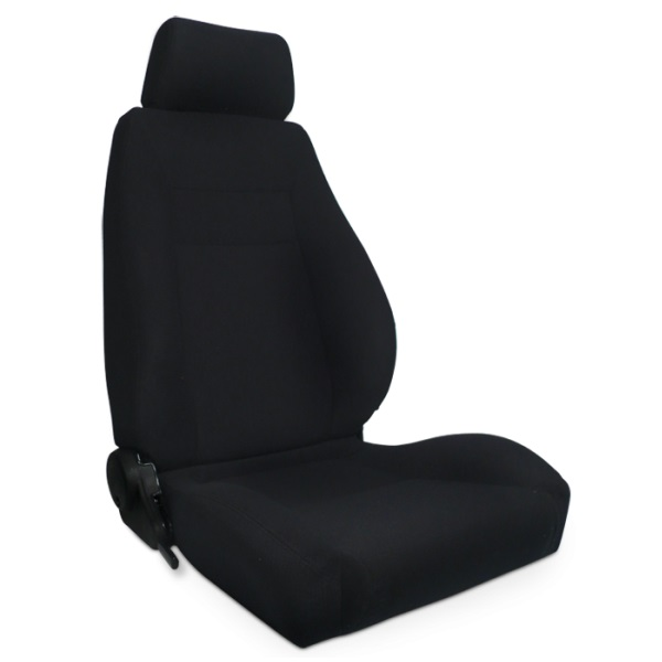 ProCar Elite Seat Black Velour w/ Sliders