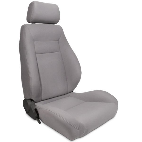 ProCar Elite Seat Grey Velour w/ Sliders