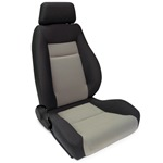 ProCar Elite Seat Black Velour / Grey Velour w/ Sliders