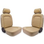 Procar Classic Seats PAIR Beige Vinyl with Sliders