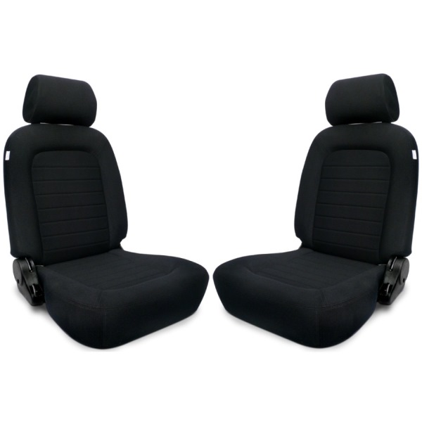 Procar Classic Seats PAIR Black Velour with Sliders