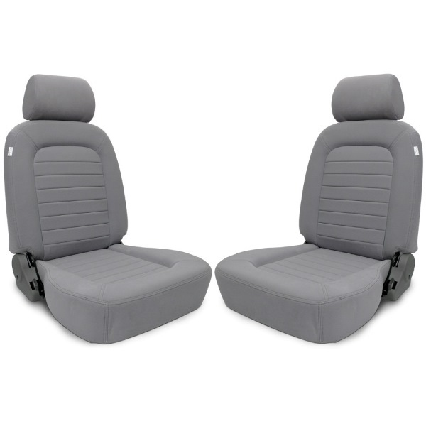 Procar Classic Seats PAIR Grey Velour with Sliders