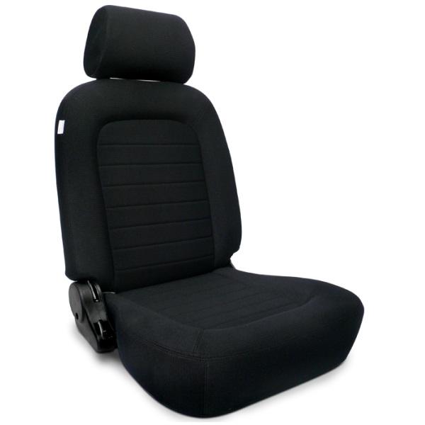 Procar Classic Seat Black Velour w/ Sliders